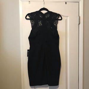 NWT Express black body con lace detail dress